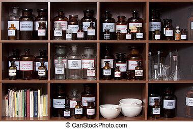 medicine cabinet - Antique medicine cabinet used for storing...