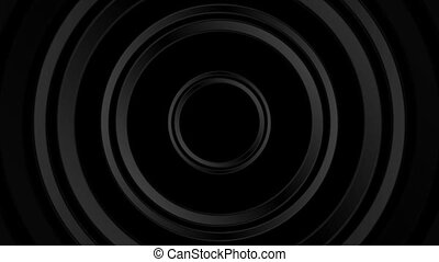 Dark black abstract circles video animation - Dark black...