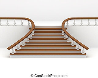 Abstract background. Stairs. 3d