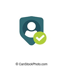 Privacy icon, personal protection, authentication security secure confidentiality label