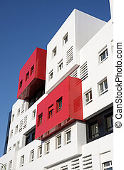 Modern Red and White Residential House