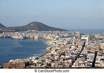The City of Las Palmas de Gran Canaria, Spain