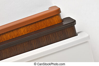 Different PVC window sill isolated