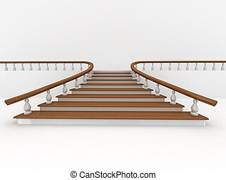 Abstract background Stairs 3d