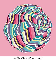 Design Template with Colorful Mosaic Sphere Abstract Vector...
