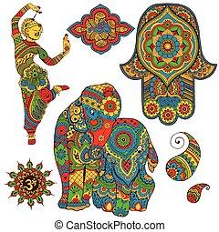 set of Indian symbols - A set of Indian symbols for design....