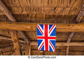 Great Britain Flag. Image of Flag of Great Britain with hut...