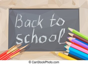 black board with back to school