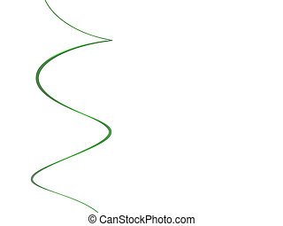 The 3D rendering nice green curve isolated with white - 3D...