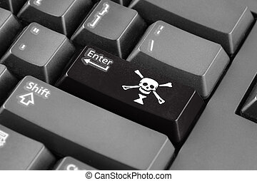 Enter button with Emanuel Wynn Pirate Flag
