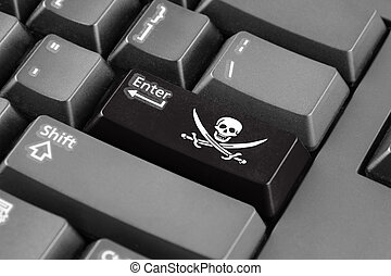 Enter button with Calico Jack Pirate Flag