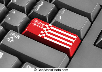 Enter button with Flag of Bremen