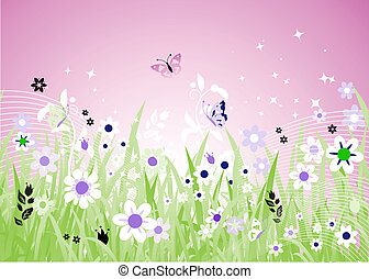 Spring meadow beautiful