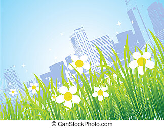 Spring in the city, flowers