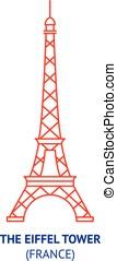 The Eiffel Tower, France, vector