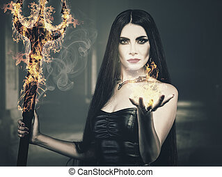 Beauty from the Hell, spooky female portrait, halloween...