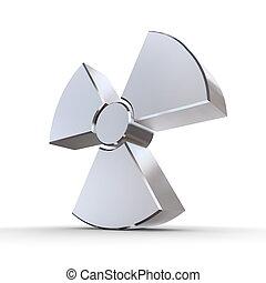 Shiny Nuclear Symbol