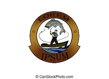 Fish and fish processing industry icon