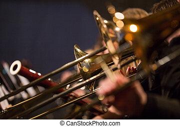 Symphony orchestra on stage - Symphony orchestra on stage,...