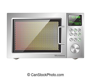 board microwave oven - working microwave oven with a...