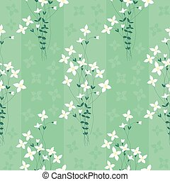 Flowers - Seamless pattern made of beige illustrated flowers