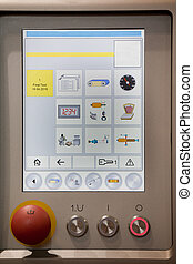 Control panel in food industry machine