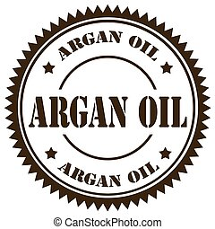 Argan Oil-stamp - Stamp with text Argan Oil,vector...