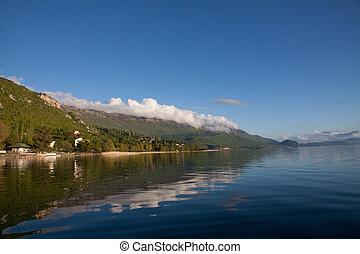 Beautiful lake in the Balkans - Ohrid Lake, beautiful...