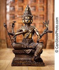 Shiva god statuette - Ancient bronze statuette of the god...