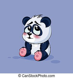 Illustration isolated Emoji character cartoon Panda...