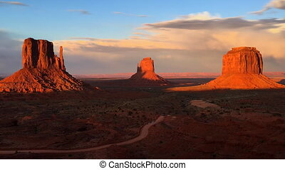 Monument Valley Arizona Time-lapse - West, East and Merrick...