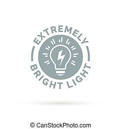 light bulb icon extremely bright and powerful torch symbol...