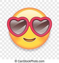 Emoticon, vetorial, Amor, Ilustração