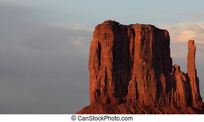 Monument Valley Arizona rolling shot slow pan zoom on mittens