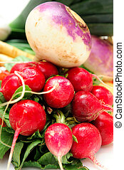 Root Vegetables - Assorted root veggies including Turnip...
