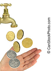 hand tap coins