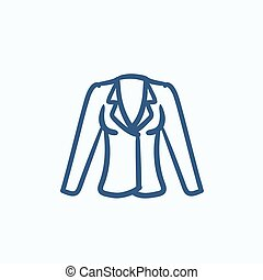 Jacket sketch icon. - Jacket vector sketch icon isolated on...