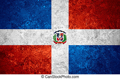 flag of Dominican Republic - flag of Dominican or banner on...