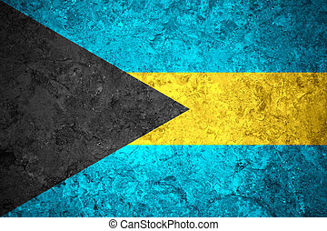 flag of Bahamas or Bahamian banner on vintage background