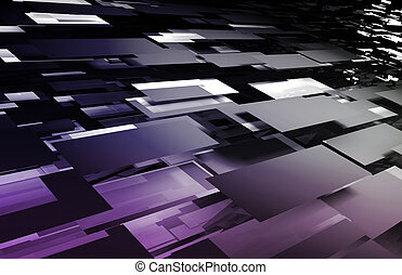 Digital Mosaic - Web Creative Artistic Fractal as Mosaic...