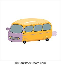Vector Bus, Dodo collection - A vector illustration of the...
