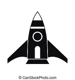 Rocket icon, simple style