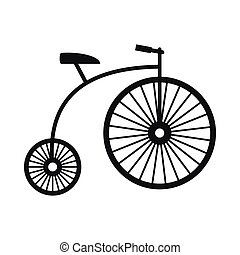Penny-farthing icon, simple style - Penny-farthing icon in...