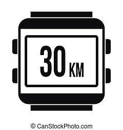 Speedometer bike icon, simple style - Speedometer bike icon...