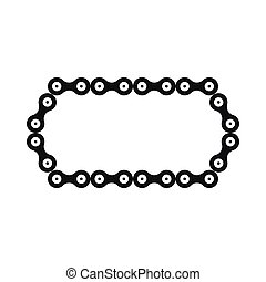 Bicycle chain icon, simple style - Bicycle chain icon in...