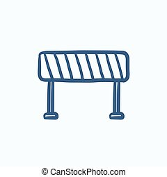 Road barrier sketch icon - Road barrier vector sketch icon...