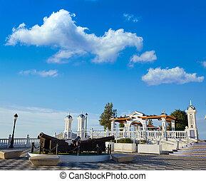 Benidorm old Canon at Mirador del Castillo Mediterranean...