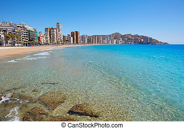 Benidorm Levante beach in Alicante Spain - Benidorm Levante...