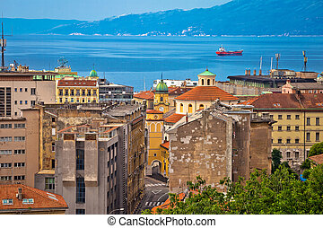 City of Rijeka waterfront view, Kvarner, Croatia