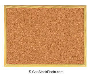 Corkboard - Cork board isolated on white